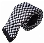 Knitted Slim Tie - 2/Tone Check